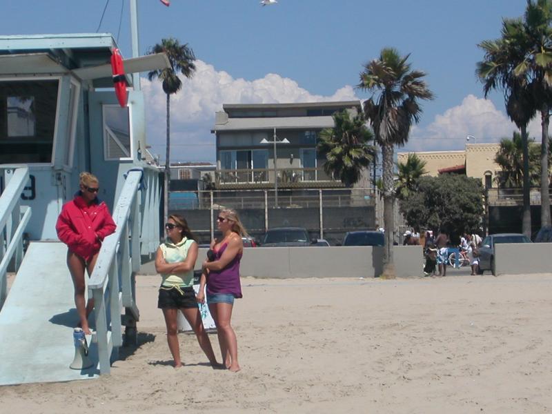 View of building from sand - 2 bed Sleeps 12  on Venice Boardwalk Ocean Views - Los Angeles - rentals
