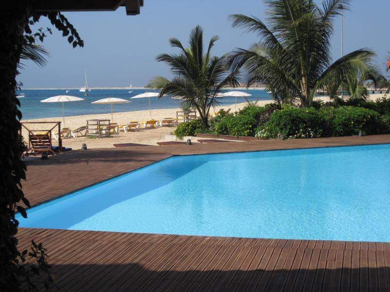 sea view from the pool - Luxurious Beachfront Apartment with Sea Views - Santa Maria - rentals