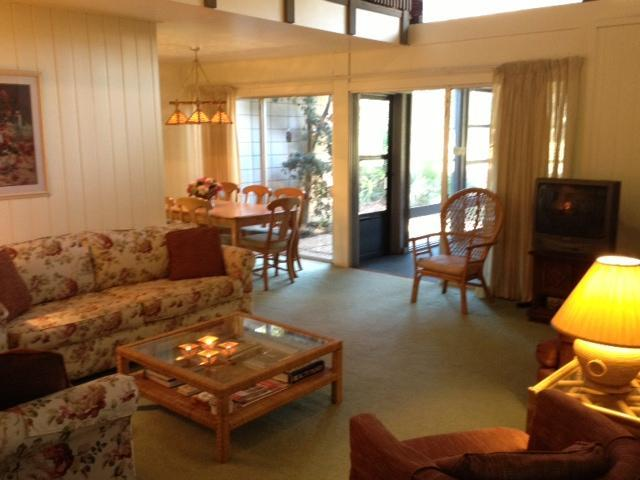 Living Area from front door - 3 BR Sea Pines Villa near the Sea Pines Beach Club - Hilton Head - rentals