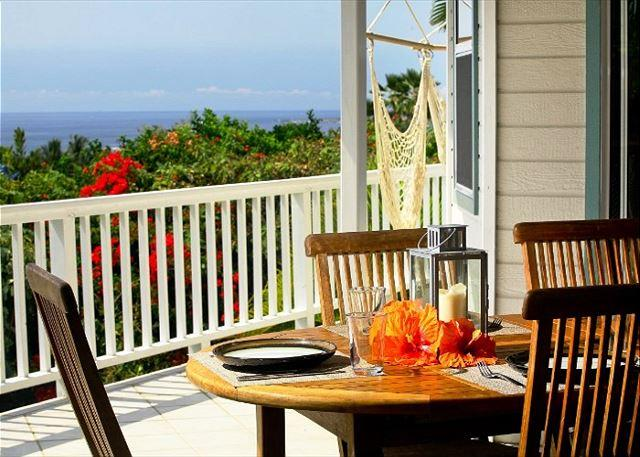 Amazing Ocean Views from Lanai Dining - 5 Bedroom 3 Bath with great ocean views and pool at Mahuahua Place-PHMahua - Kailua-Kona - rentals
