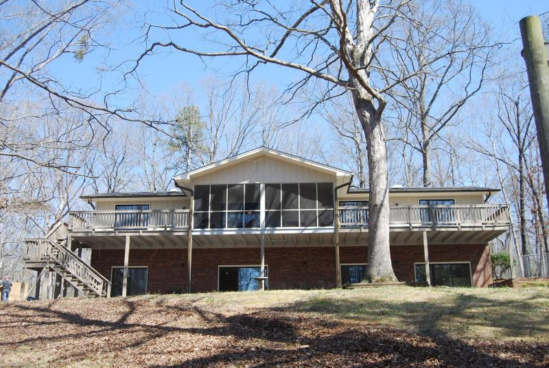 View of Back of House and Large Deck - Town & Country - Maginificent Lake Lanier Home - Gainesville - rentals