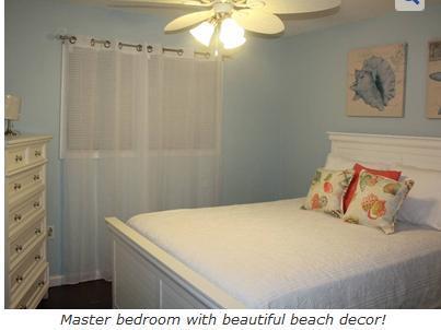 Master Bedroom - Beach front condo - Hilton Head - rentals