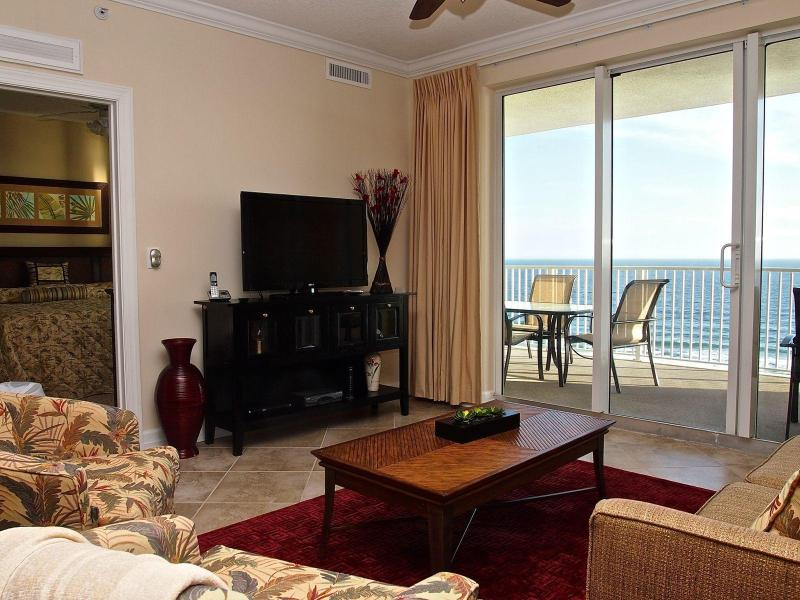 Stunning living area with Gulf view! - Breathtaking Gulf View from 2 Bedroom Condo near Pier Park - Panama City Beach - rentals