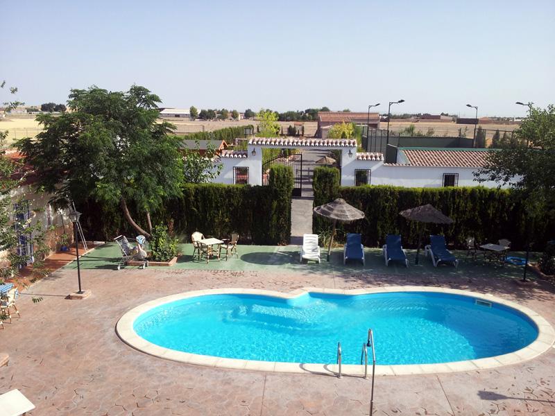 Private swimming pool area - Luxury villa in La Mancha with private pool and own activities - Bolanos de Calatrava - rentals