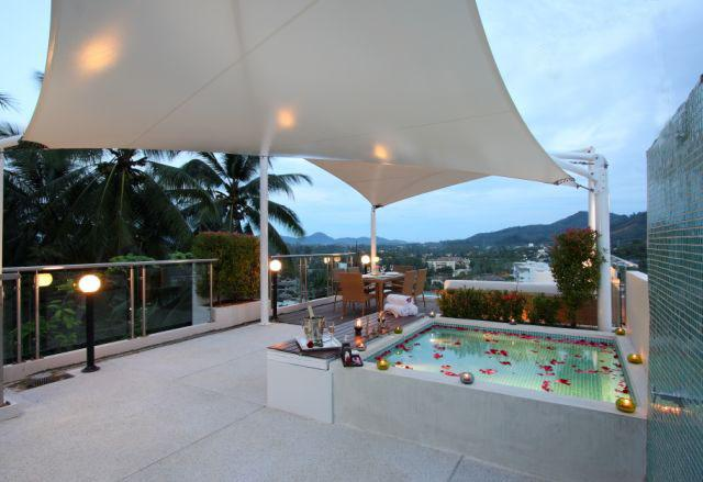 Our rooftop terrace - Seaview Penthouse in Phuket - Surin beach - Phuket - rentals