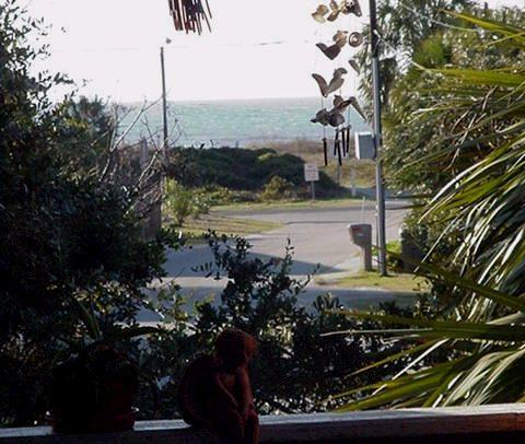 Photo is shown for proximity of beach - Taken from second level porch - Not ground level Apt View - GARDEN APT   Avail - See Calendar - Isle of Palms - rentals