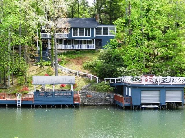 View of Picnic Point Cabin from Lake Lure - Best Lakefront Vacation Ever in Picnic Pt. Cabin! - Lake Lure - rentals