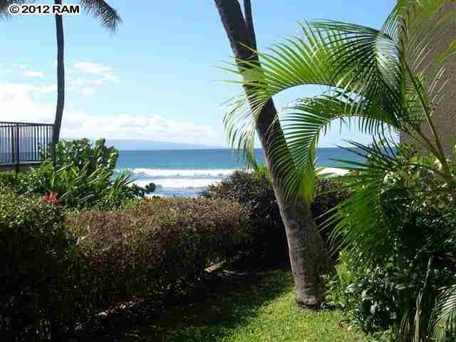 View from Lanai (no zoom) - Ka'anapali Getaway Remodeled Hale Ono Loa - Lahaina - rentals