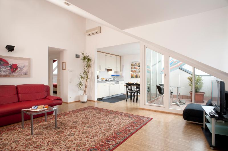 Living room - Penthouse with private terrace Ap1 - Vienna - rentals