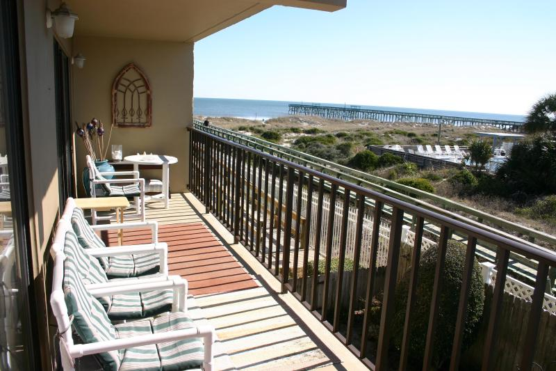 Great view from Balcony - Great View of the Beach from the Balcony ! - Fernandina Beach - rentals