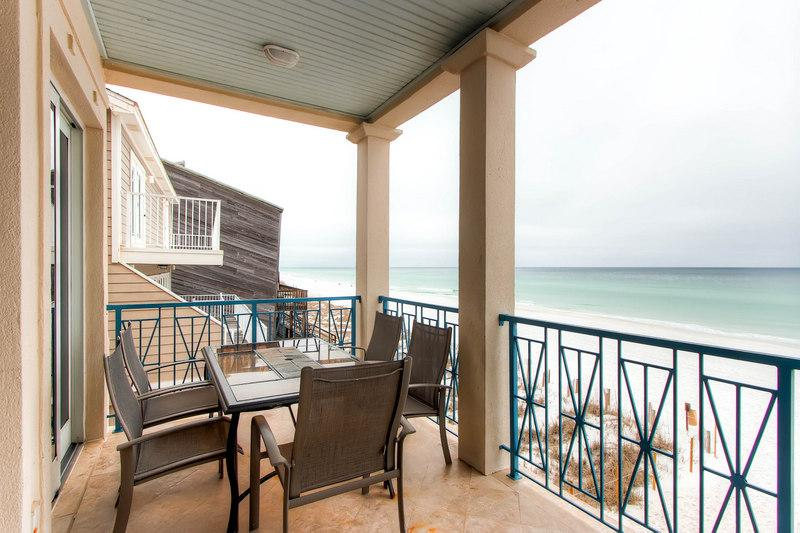 What a stunning view from the balcony! - Frangista Pearl  -Gulf Front Beach Villa - Miramar Beach - rentals