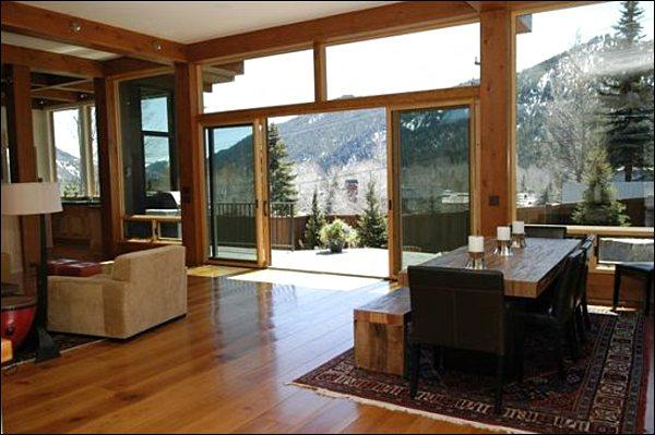 Great Room Boasts Gorgeous Views and Opens to the Patio - Spacious & Modern Vacation Home - High End Finishes Throughout (1232) - Ketchum - rentals