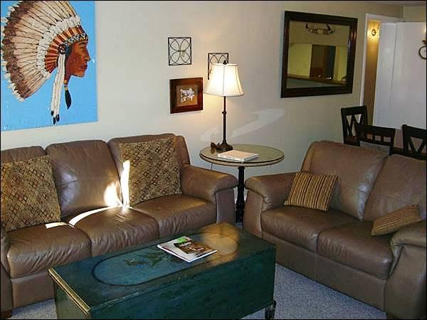 Leather Furnishings in the Living Room - Magnificent Accommodations & Amenities - Great Choice for Families (1257) - Crested Butte - rentals