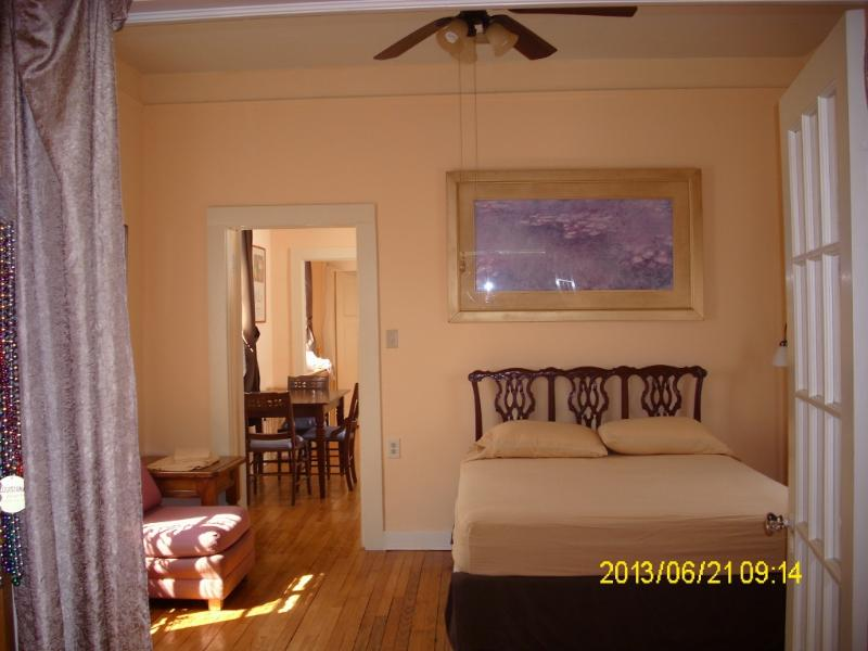 Master bedroom with queen beds, speedy ceiling fan, AC, flat screen TV - Beautiful Spacious Private Apartment - New Orleans - rentals