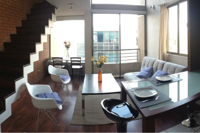 1st floor: Living & Kitchenette - Loft in Bellas Artes-Best Location - Santiago - rentals