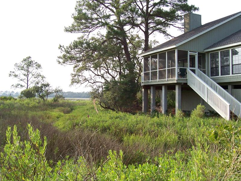 270 Degree Marsh View from Porch - Marsh, Water and Sunset Views - Fripp Island - rentals