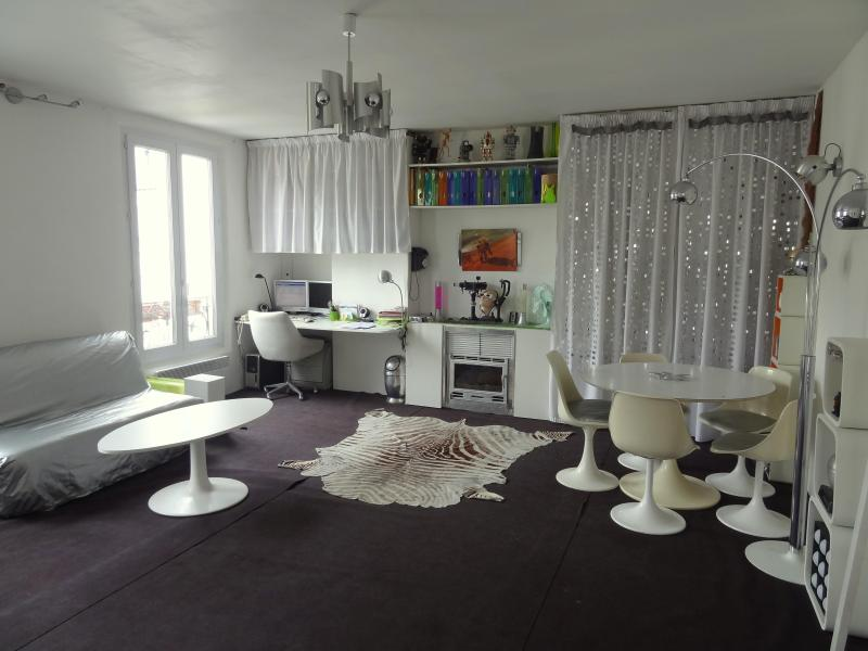 Bright living room with a sofabed for 2 - Entire flat (540ft² = 50m²) in central Paris - Paris - rentals