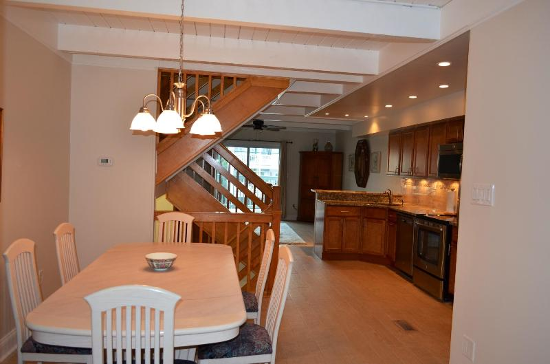 Modern Kitchen with new appliances - Remodeled 4 Bdrm Townhouse Steps to Private Beach! - Bethany Beach - rentals