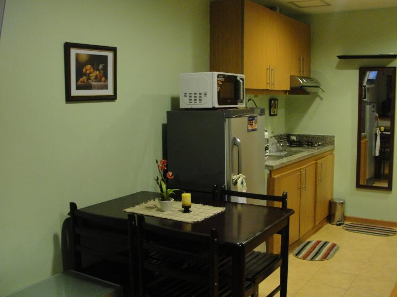 Fully Furnished Kitchen - Studio Unit in a Highly-Secured Condo in Phils - Manila - rentals