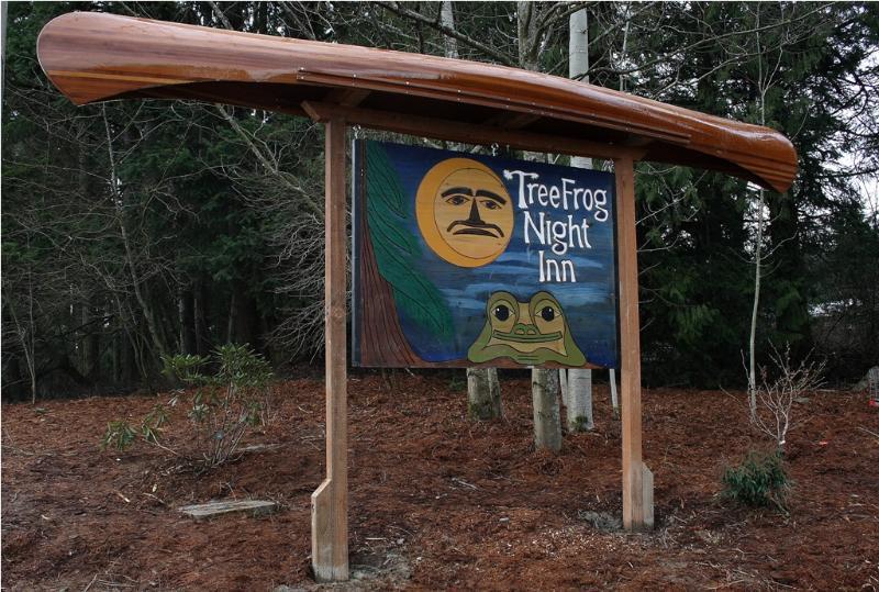 Entrance sign - The Forest Room - Bellingham - rentals