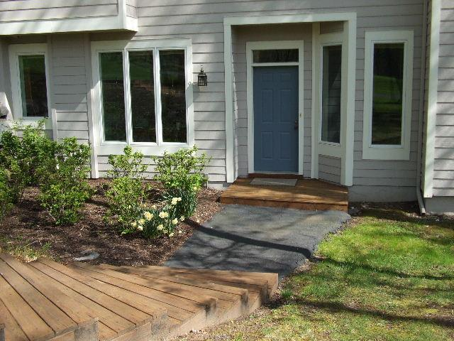 Front Entry Door View - Woodloch Springs Townhome - Golf, Pools, Deck, BBQ - Hawley - rentals