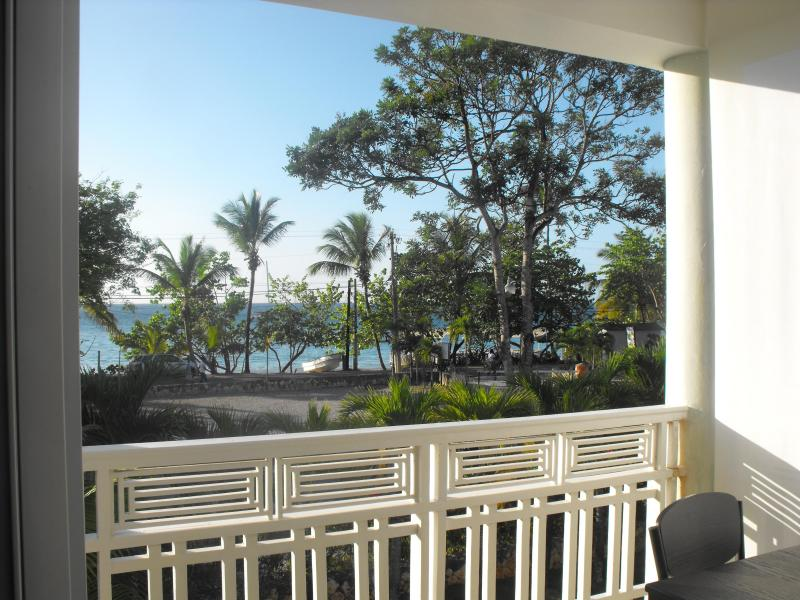 great ocean view from lower balcony - BEACHFRONT  penthouse in Las Terrenas with a rooftop bar - Las Terrenas - rentals