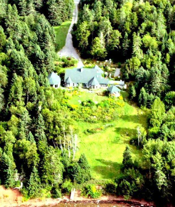 Aeria view of Villa Verdi Estate - Villa Verdi Guesthouse - Charlo - rentals