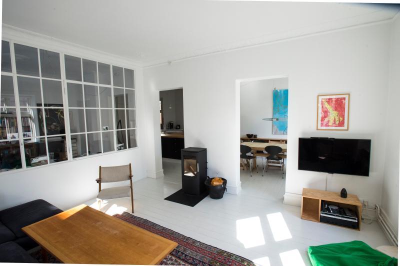 Living room - Great spacius family apartment in Vesterbro - Copenhagen - rentals