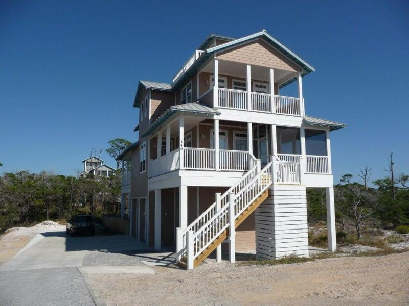 Wrap around decks and screen porch off living level provide awesome beach views. - Private Heated Pool, Awesome views, Screen Porch - Cape San Blas - rentals