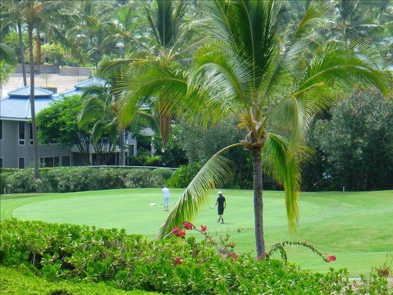 View from Lanai - Kona Country Clubs'  Hole #9 - Best Kona Vacation - Golf, Scuba , Kayak,  Fishing - Kailua-Kona - rentals