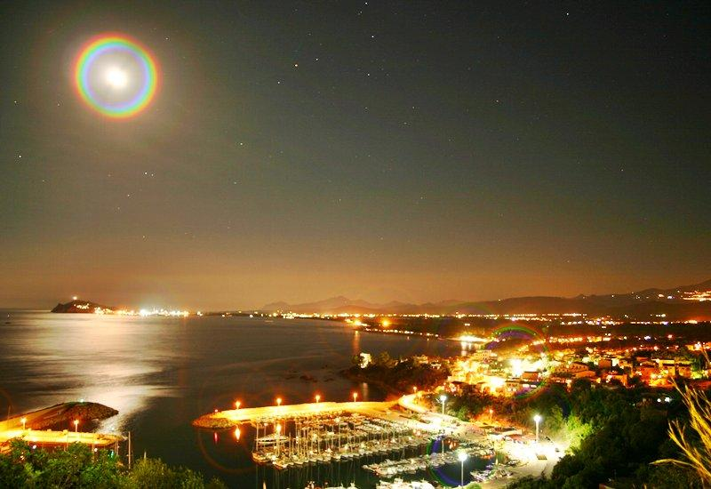 panorama notturno del porticciolo turistico - Sardegna case vacanza  Ogliastra paradiso da visit - Baunei - rentals