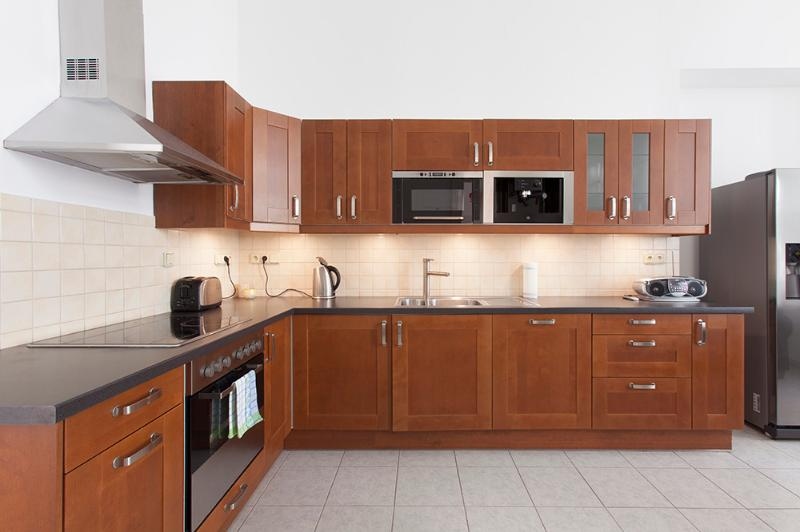 Kitchen with American fridge - Amazing 3 bedroom apartment in Narodni Prague - Prague - rentals