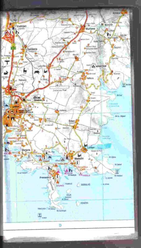 Map of Premantura - Accommodation Rupine - Premantura - rentals