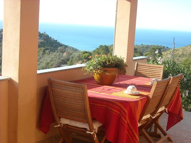 terrace sea view - Le Fontane organic oriented farm - Camporosso - rentals