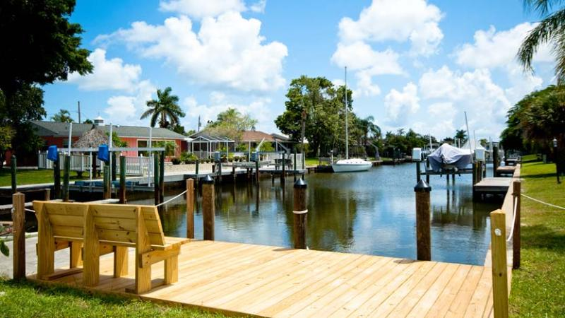 Canal View - Blue Parrot: 2BR/2BA Canal-Front Home with Dock - Holmes Beach - rentals