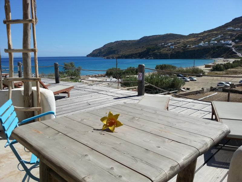 Studio For 3 Guests By The Beach With Sea View - Image 1 - Mykonos Town - rentals