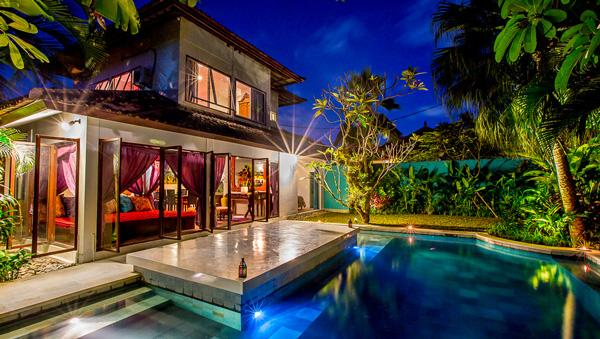 View at night from pool - Eshina villa I - Seminyak - rentals