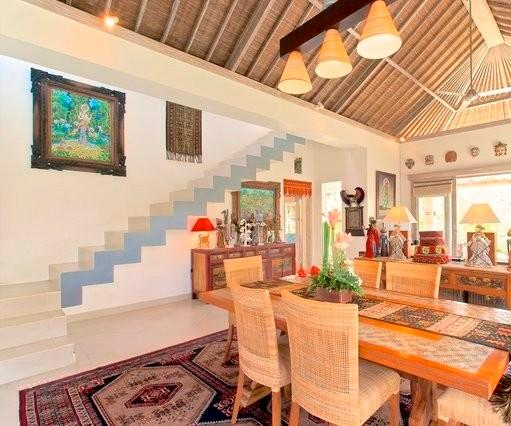 Indoor Dining Area - Villa Semua Suka 2 Bedroom Villa and Pool in the Ricefields of Ubud - Bali - rentals