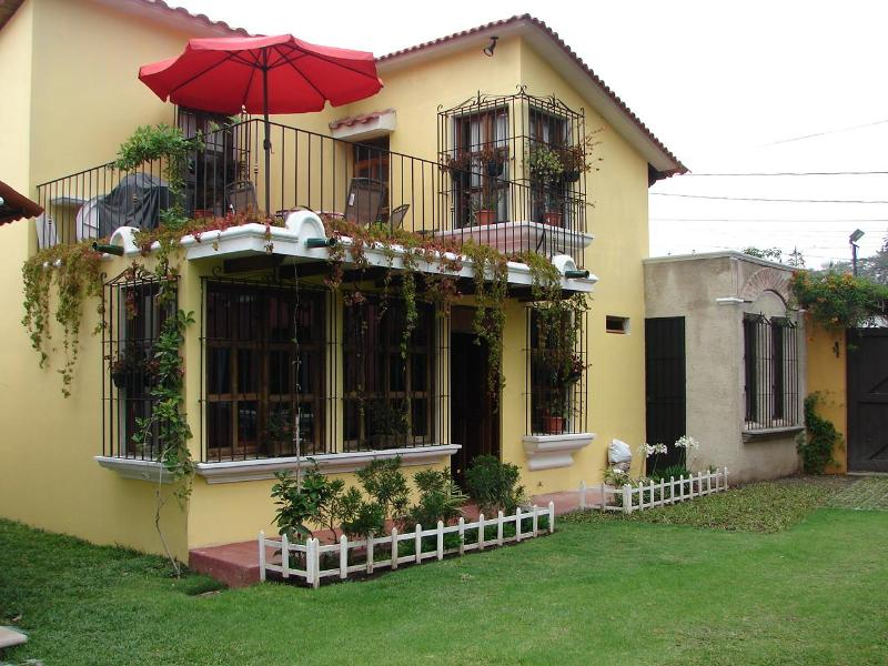 Outside view from inside garden - Comfortable-Furnished 4 bedroom house in Antigua - Antigua Guatemala - rentals