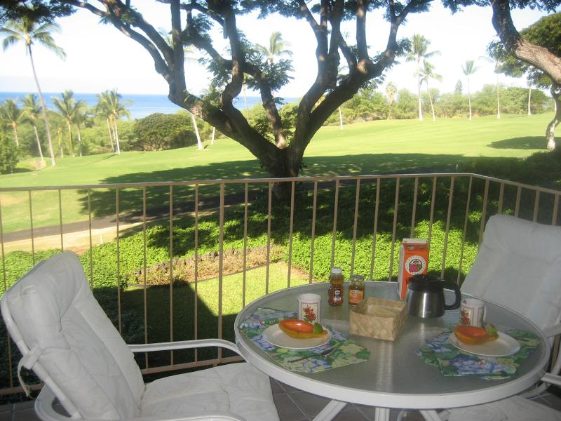 Breakfast for 2 on the lanai - Elegant condo with gorgeous ocean and golf views - Kailua-Kona - rentals