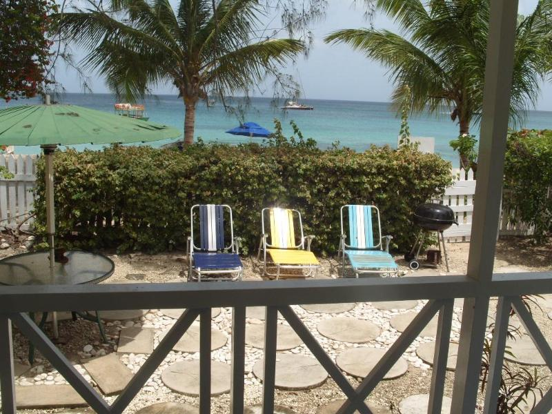 Overlooking the outside Deck - Annabelles Cottage on the Beach - Saint James - rentals