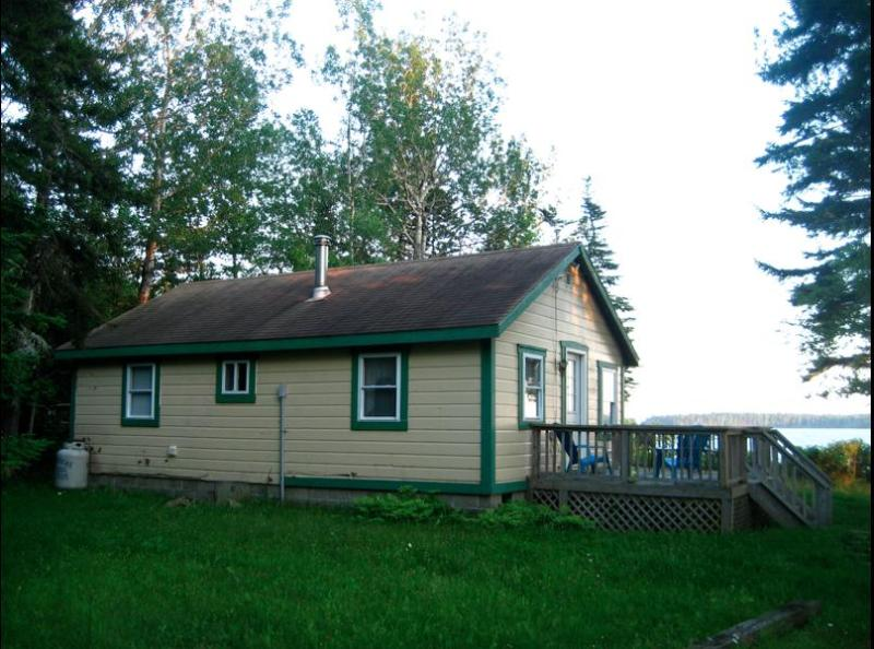 The Cottage looking over the water. - Downeast Waterfront Cottage - Great Views - Sunny - Milbridge - rentals