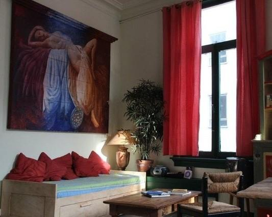 Fernando Pitta on the wall , o cantinho gostoso , the Brazilian cozy corner. - Bohemian Apartment in Antwerp Center - Antwerp - rentals