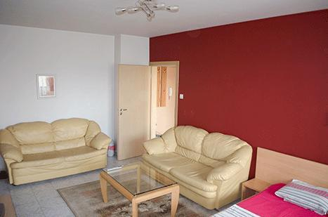 Bedroom, free Wi-Fi internet, cable TV Sony 46 inch-70 channels, DVD, CD, MP3, air-conditioner,  queen sized bed, - Luxury Holiday-1 apartment - Sofia - rentals