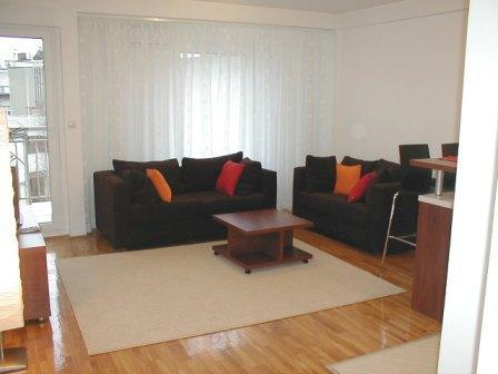 Living room - foldable sofa bed and sofa - Slavija Square - Apartment - Belgrade - rentals