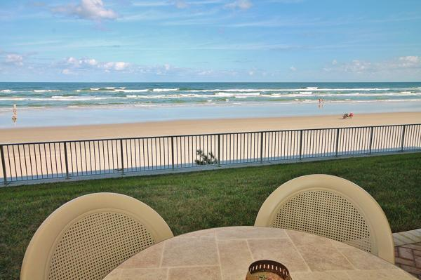 View from balcony - Stay at Sea Coast Gardens- Be Beachfront - New Smyrna Beach - rentals