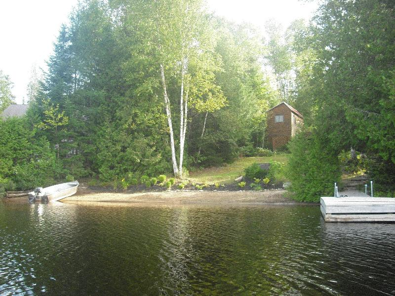 Beach - enjoy swimming, fishing or just sitting on the dock! - Waterfront cottage for rent - Outdoor paradise! - Amos - rentals
