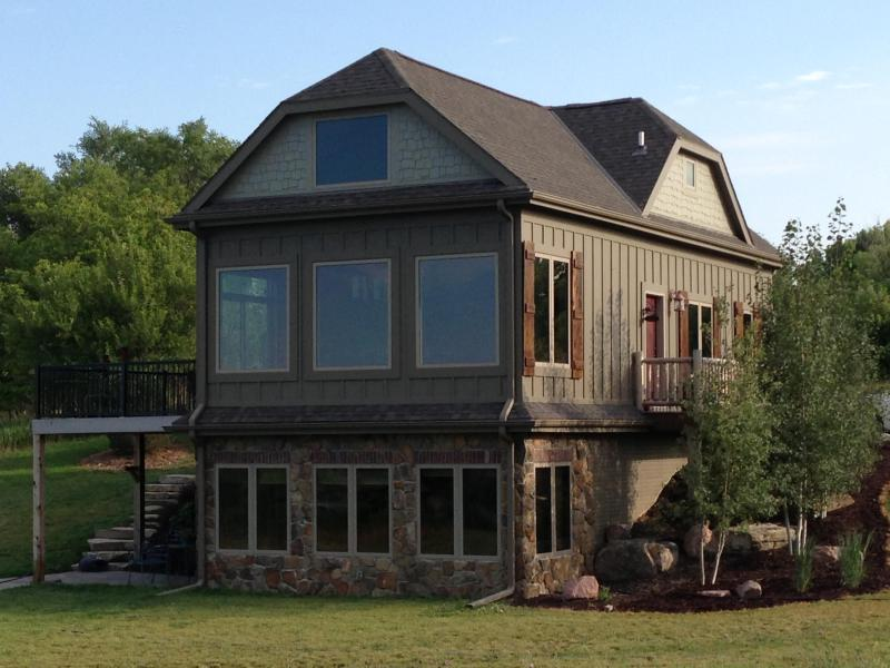 Awesome views of the lake from these windows! - Luxury Accommodations by Lake Wanahoo - Omaha - rentals