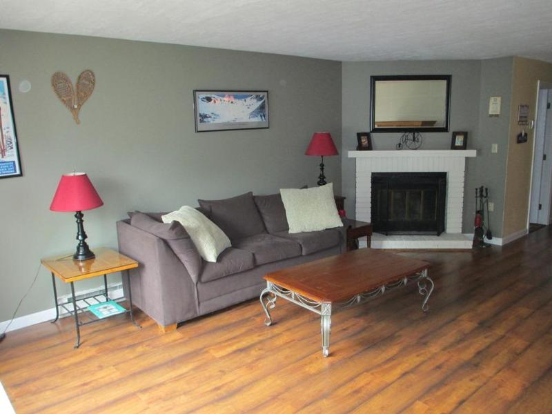 Living Area with fireplace - Townhome in the White Mountains - North Woodstock - rentals