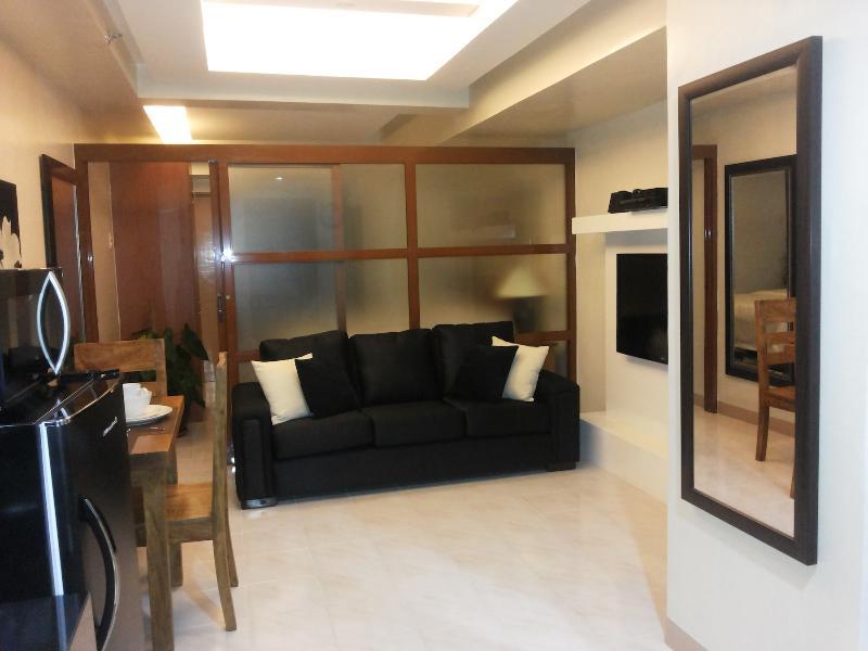 Living Room - Stunning Makati Fully Furnished 1 Bedroom - Makati - rentals